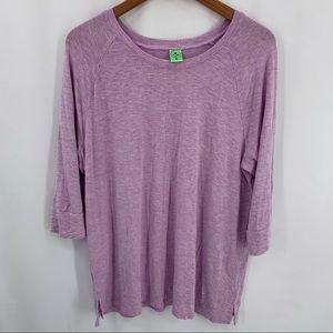 Honeydew purple lounge top XL